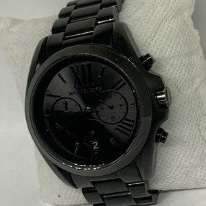 Michael Kors Men's Black Dial Quartz Watch Aa333